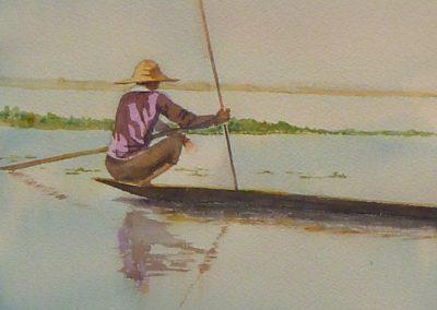 Crouching Fisherman